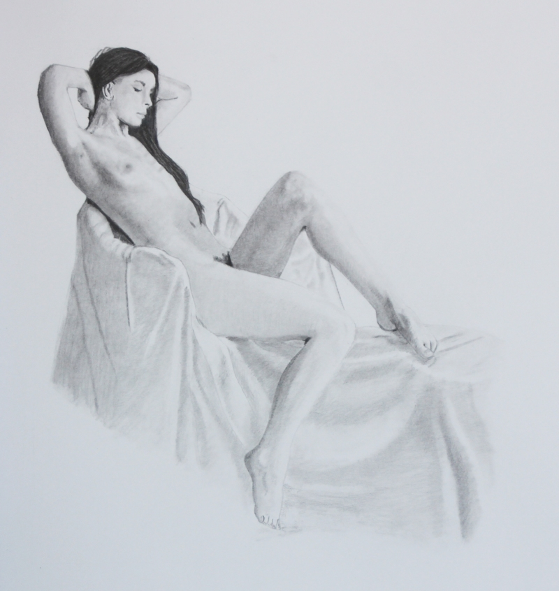 Afternoon Sun. Graphite drawing.