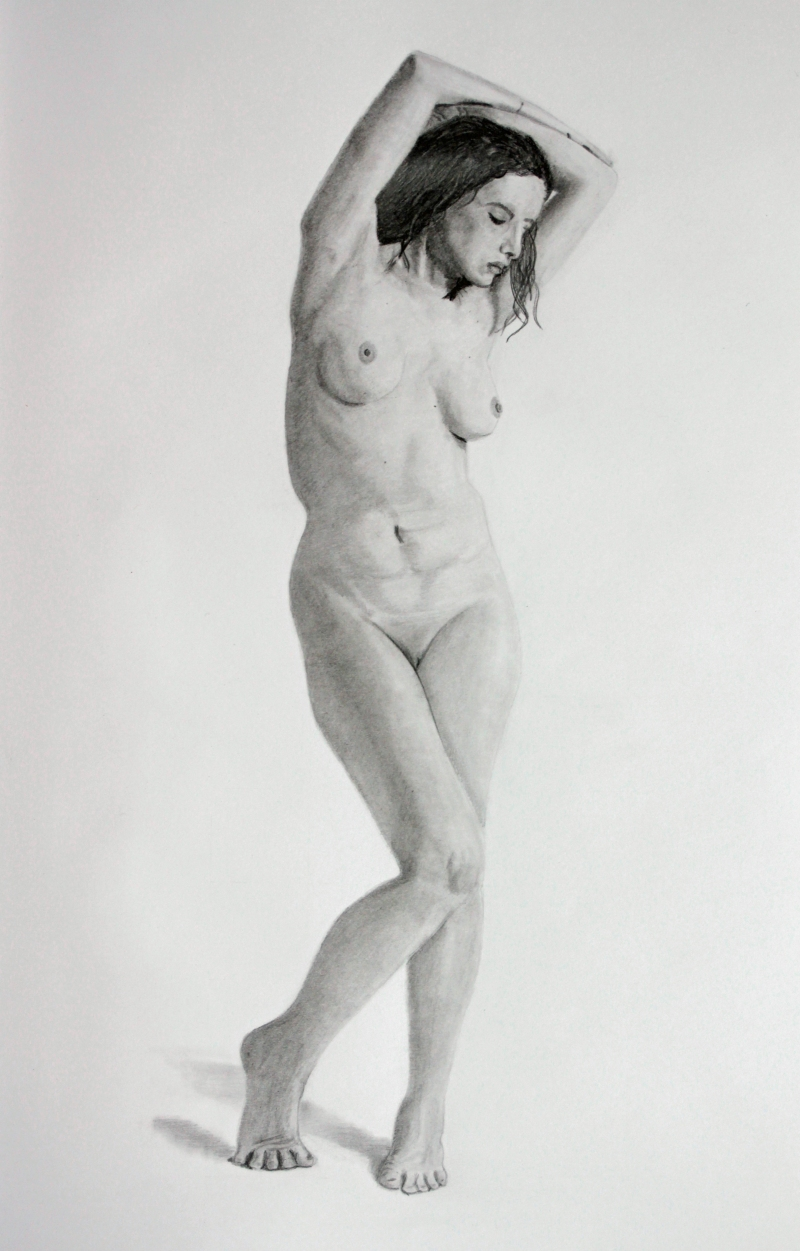The Pose - Graphite drawing